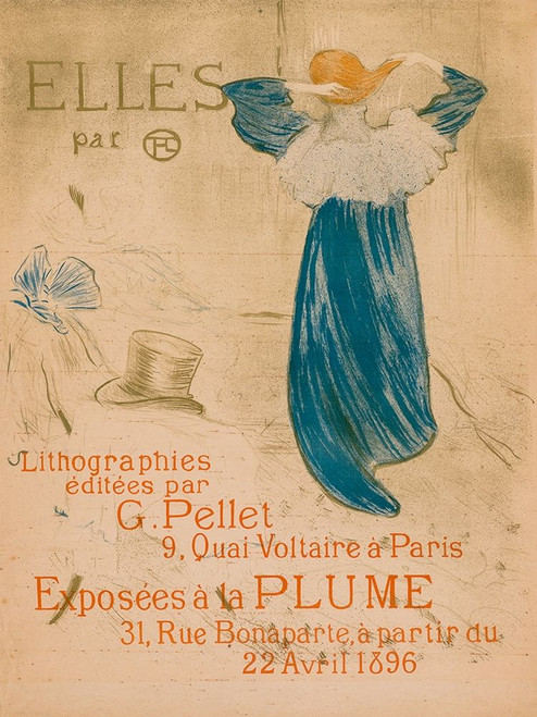 Elles, Frontispiece Poster Print by Henri de Toulouse-Lautrec # 56340