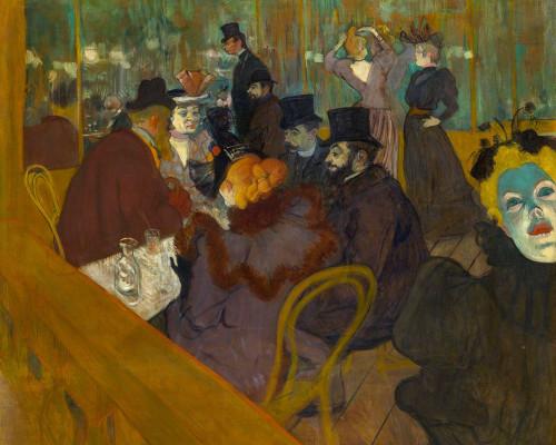 At the Moulin Rouge Poster Print by Henri de Toulouse-Lautrec # 56283