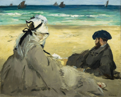 On the Beach Poster Print by Edouard Manet # 56452