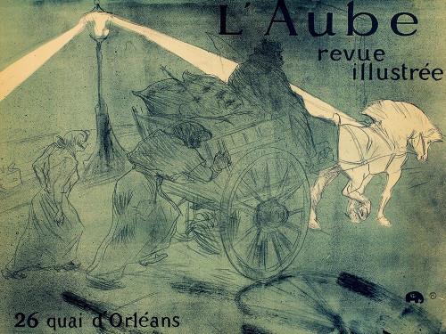LAube Poster Print by Henri de Toulouse-Lautrec # 56357