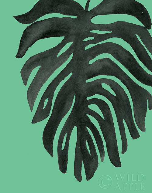Tropical Palm II BW Green Poster Print by Wild Apple Portfolio Wild Apple Portfolio # 56382