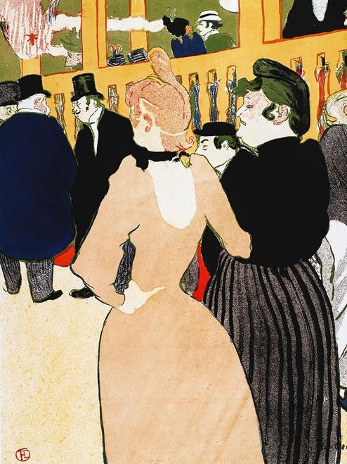 Au Moulin Rouge, la Goulue et sa soeur Poster Print by Henri de Toulouse-Lautrec # 56364