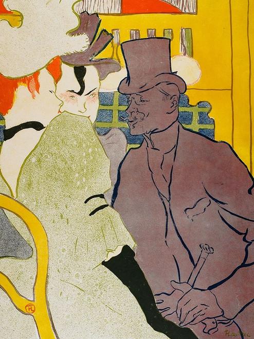 The Englishman at the Moulin Rouge Poster Print by Henri de Toulouse-Lautrec # 56290