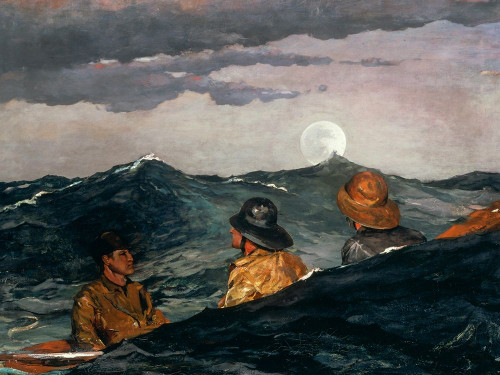 Kissing the Moon Poster Print by Winslow Homer # 56148