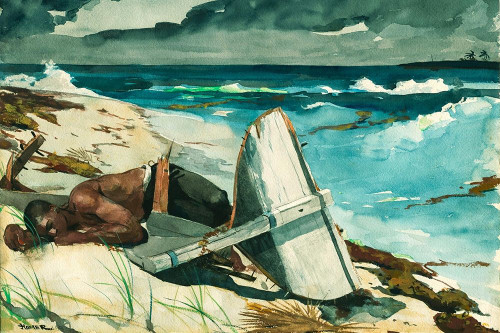 After the Hurricane, Bahamas Poster Print by Winslow Homer # 56185