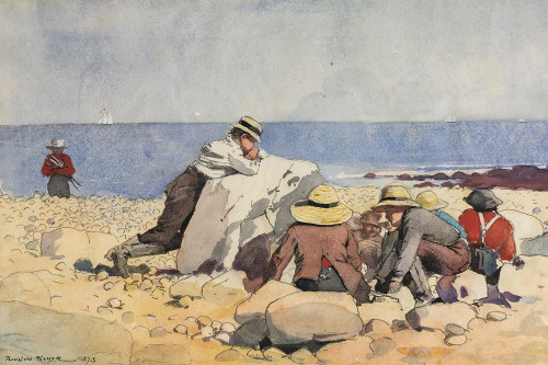 A Clam Bake Poster Print by Winslow Homer # 56134