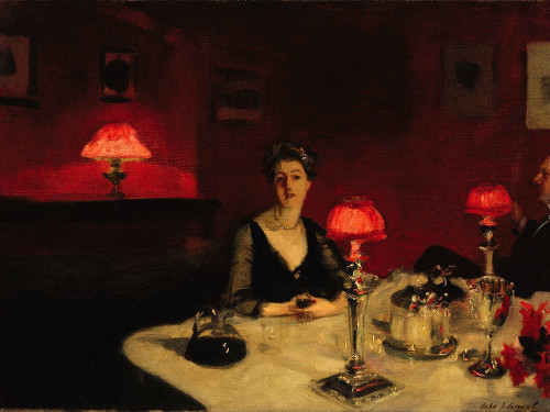 A Dinner Table at Night, 1884 Poster Print by John Singer Sargent # 55591