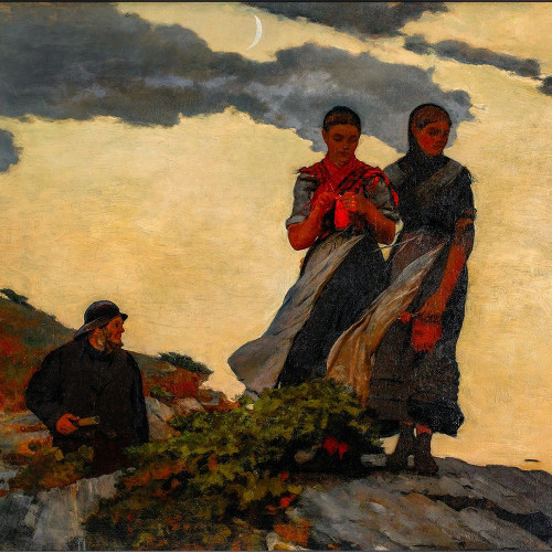 Early Evening Poster Print by Winslow Homer # 56192