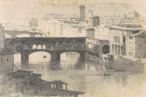Ponte Vecchio, Florence Poster Print by John Singer Sargent # 55575