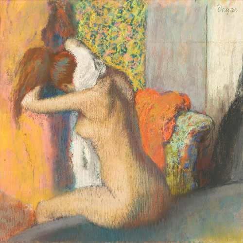 After the Bath, Woman Drying her Nape Poster Print by Edgar Degas # 55505