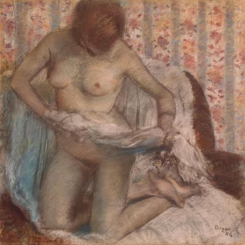 Kneeling Woman Poster Print by Edgar Degas # 55502