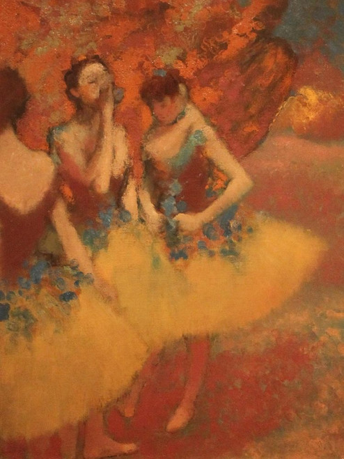 Three Dancers in Yellow Skirts Poster Print by Edgar Degas # 55504