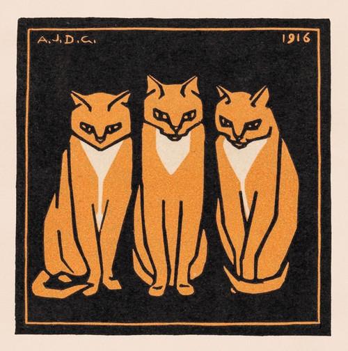 Three cats Poster Print by Julie De Graag # 55512