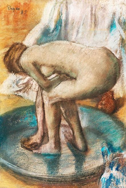 Woman Bathing in a Shallow Tub Poster Print by Edgar Degas # 55448
