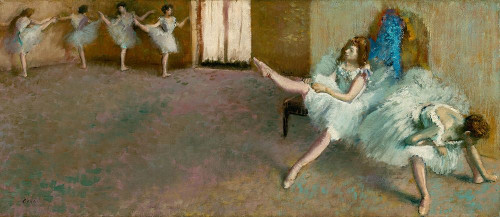 Before the Ballet Poster Print by Edgar Degas # 55472