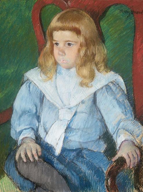 Boy with Golden Curls Poster Print by Mary Cassatt # 55386