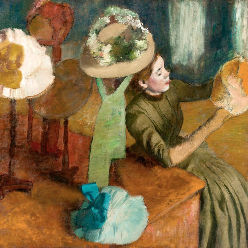 The Millinery Shop Poster Print by Edgar Degas # 55429