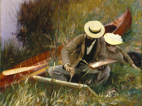 An Out-of-Doors Study Poster Print by John Singer Sargent # 55547