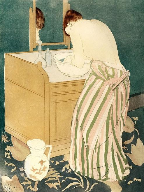 Woman Bathing Poster Print by Mary Cassatt # 55371