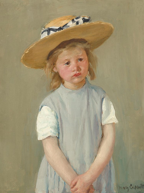 Child in a Straw Hat Poster Print by Mary Cassatt # 55366