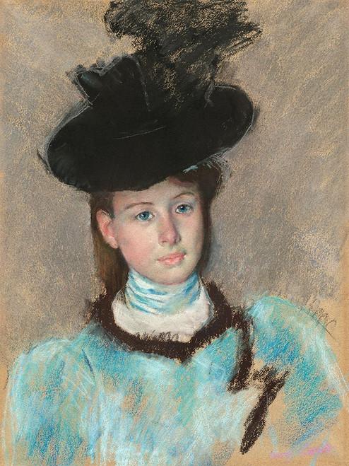 The Black Hat Poster Print by Mary Cassatt # 55382