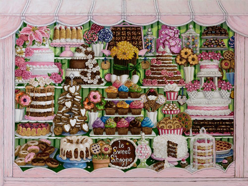 Sweet Shoppe Poster Print by Janet Kruskamp # 54420