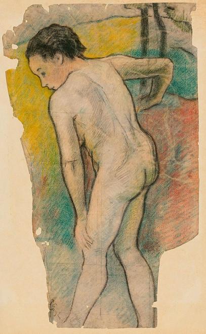 Breton Bather Poster Print by Paul Gaugin # 54496