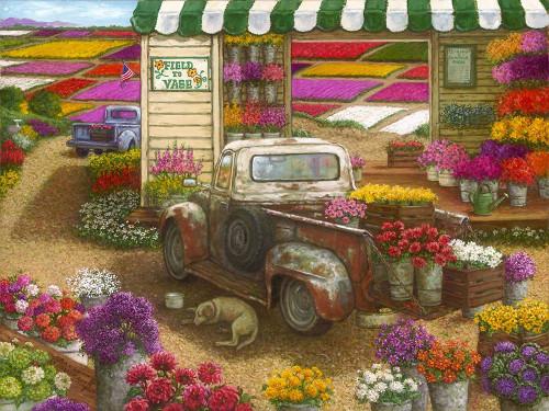 Field to Vase Poster Print by Janet Kruskamp # 54428