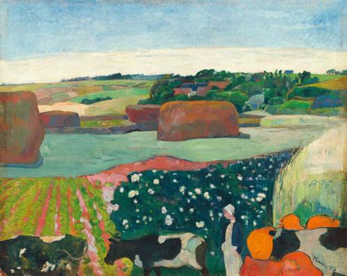 Haystacks in Brittany Poster Print by Paul Gaugin # 54457