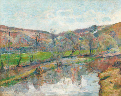 Brittany Landscape Poster Print by Paul Gaugin # 54484