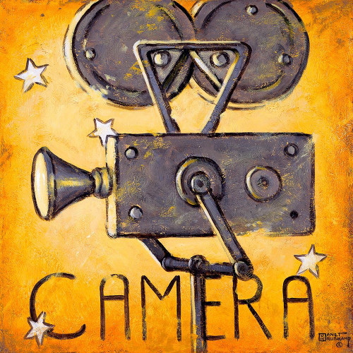 Camera Poster Print by Janet Kruskamp # 54358