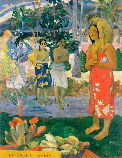 Hail Mary Poster Print by Paul Gaugin # 54442