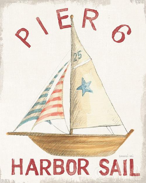 Floursack Nautical VII Red Poster Print by Danhui Nai # 54291