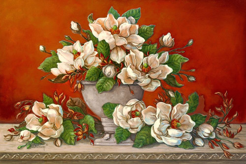 Classical Magnolia II Poster Print by Janet Kruskamp # 54300