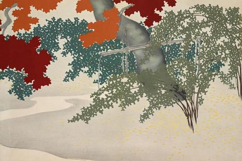 Maple from Momoyogusa Poster Print by Kamisaka Sekka # 54891