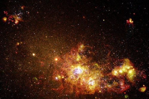 Fireworks of Star Formation Light Up a Galaxy Poster Print by NASA NASA # 55016