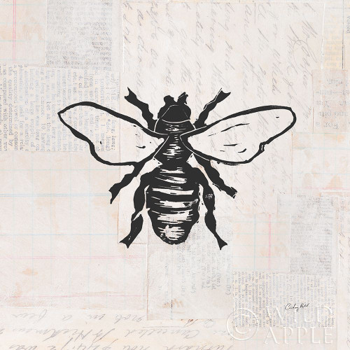 Bee Stamp BW Poster Print by Courtney Prahl # 54278