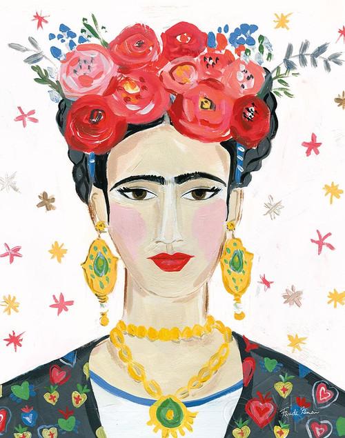 Homage to Frida Bright Poster Print by Farida Zaman # 54240