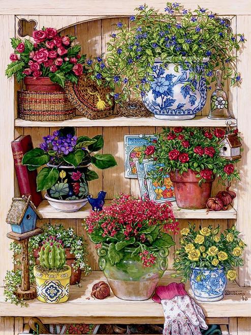 Flower Cupboard Poster Print by Janet Kruskamp # 54210