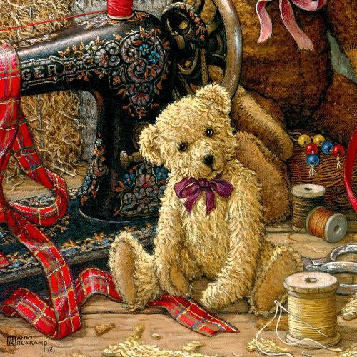 Brand New Bear I Poster Print by Janet Kruskamp # 54206