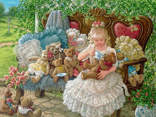 Hollys Bears Poster Print by Janet Kruskamp # 54197