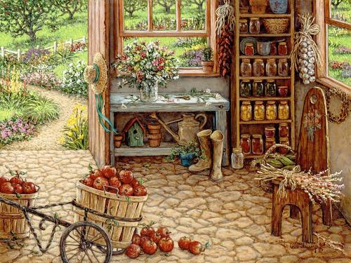 Gardening Room Poster Print by Janet Kruskamp # 54108