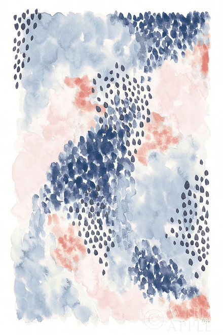 Spring Blooms II Blue Poster Print by Laura Marshall # 54048