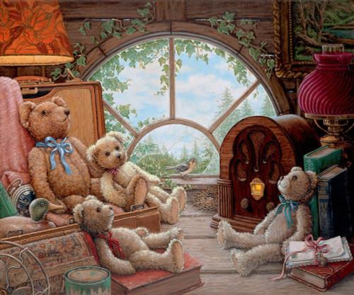 Bears In The Attic Poster Print by Janet Kruskamp # 54146