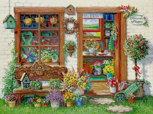 Fancy Flower Shoppe Poster Print by Janet Kruskamp # 54138