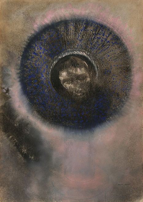 Head within an Aureole Poster Print by Odilon Redon # 54013