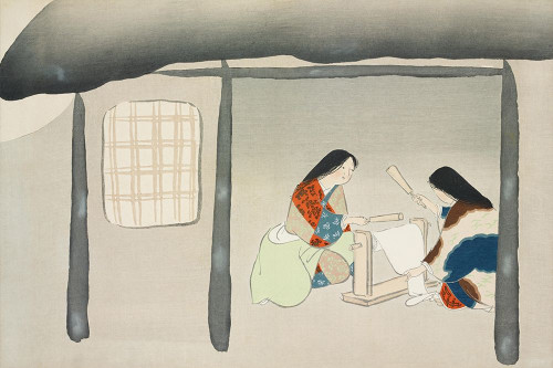 Kinuta from Momoyogusa Poster Print by Kamisaka Sekka # 54929