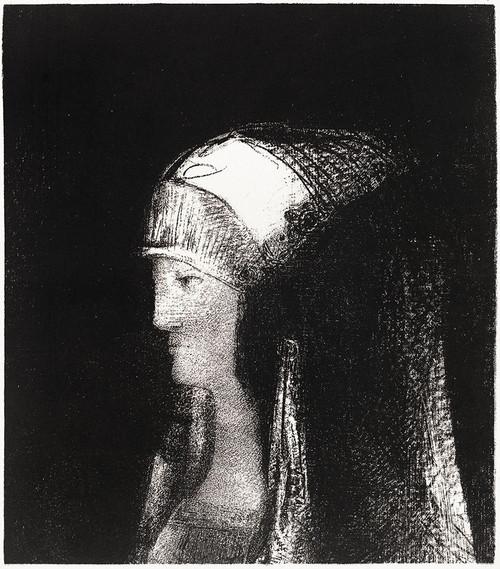 Druidesse Poster Print by Odilon Redon # 54035
