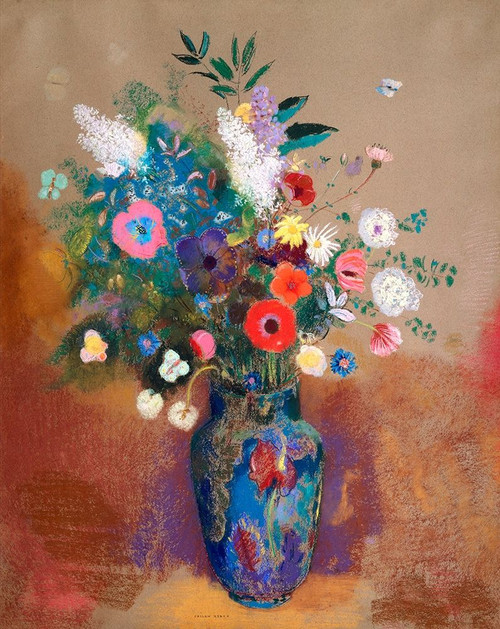 Bouquet of Flowers Poster Print by Odilon Redon # 54008