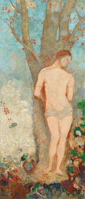 Saint Sebastian Poster Print by Odilon Redon # 53999